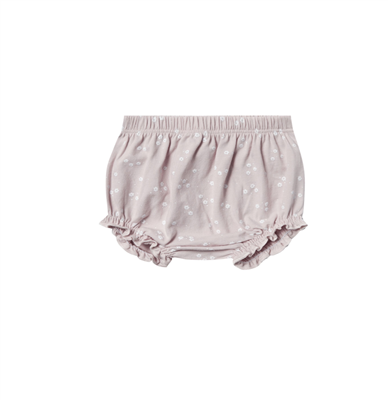baby cotton lilac bloomers with white flowers