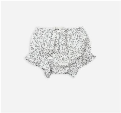 baby cotton bloomers in Dainty Leaves Print