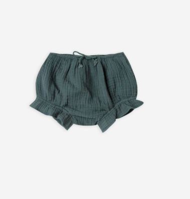 green baby cotton crepe bloomers