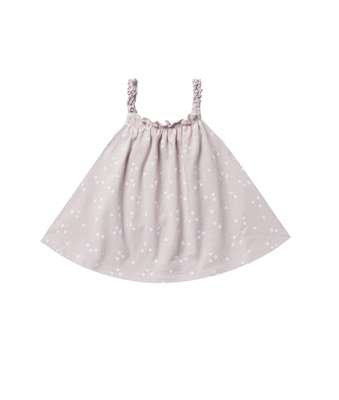 baby cotton lilac swing top with white flowers