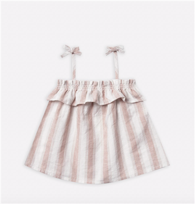 baby linen stripe swing top