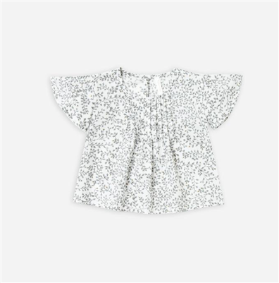 baby woven cotton blaire blouse in Dainty Leaves Print