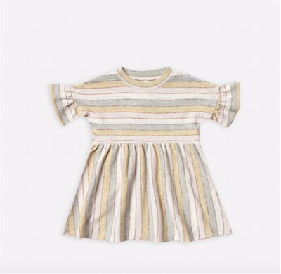 Carnival striped baby cotton dress