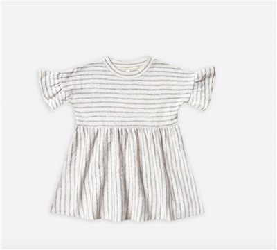 Striped  short sleeve toddler cotton dress