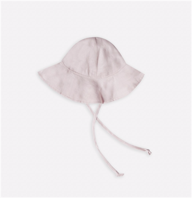 Lilac linen floppy hat for baby