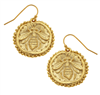 Gold Bee Wire Earrings