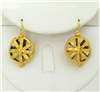 24K gold plate round tribal wire earrings