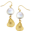 Gold Oyster Shell Earrings from Susan Shaw