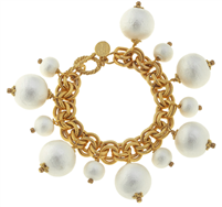 Women's cotton pearl bracelet