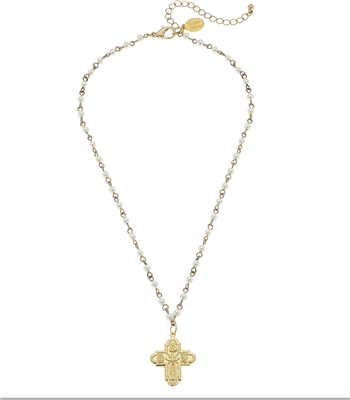 Susan Shaw Gold Family Cross Necklace