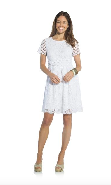 621f28ac5b9c Lace Fit and Flare Dress from Sail to Sable - white dresses - lace ...