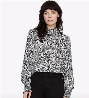 Sanctuary women's long sleeve zebra print blouse