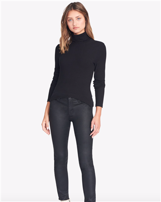 Sanctuary Clothing Women's Essential Black Turtleneck Top