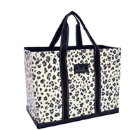 large poly woven tote bag in press paws print