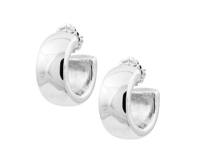 ladies 3 small sterling silver hoop earrings