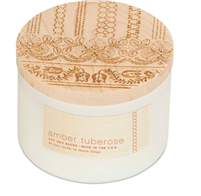 Amber Tuberose 3 wick candle from Skeem Design
