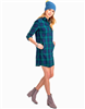 ladies dark blue plaid shirtdress