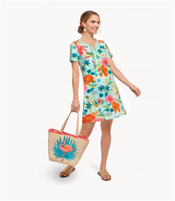 Ladies Short sleeve floral cotton dress from Spartina 449