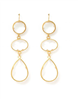 women's wire hung clear crystal earrings in gold tone hardware
