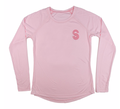 Ladies Pink Long Sleeve Solar Shirt