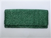 ladies metallic green beaded fold over clutch handbag