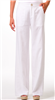 ladies white linen pants