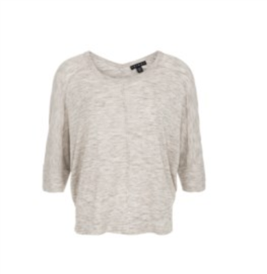 Women's grey dolman sleeve knit top