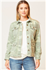 ladies camo utility jacket with flap front pockets