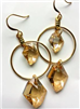 womens gold Swarovski mini hoop earrings