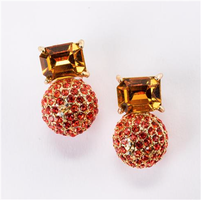 Violet & Brooks Elyse Post Earrings Orange