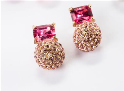 Violet & Brooks Elyse Post Earrings Pink