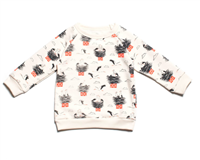 cream cotton toddler sweatshirt with storks in orange and charcoal