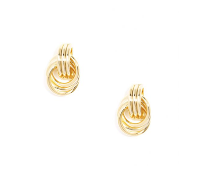 Ladies classic gold rings earrings