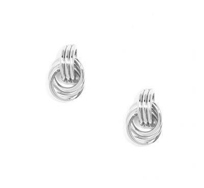 Ladies classic silver rings earrings