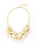 "women's 17"" Pearl Cluster Collar Necklace"