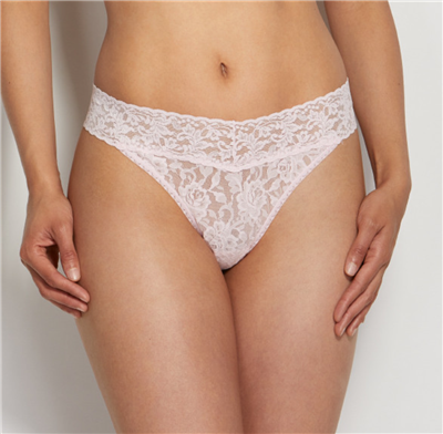 Women's Pink Lace Thing underwear