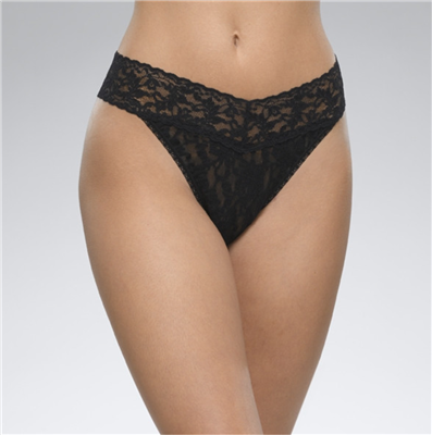 Women's Black Lace Thong underwear