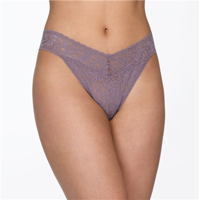 Women's Purple Lace Thong underwear