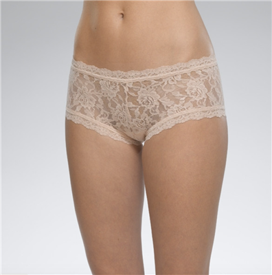 Women's nude Lace boyshort underwear