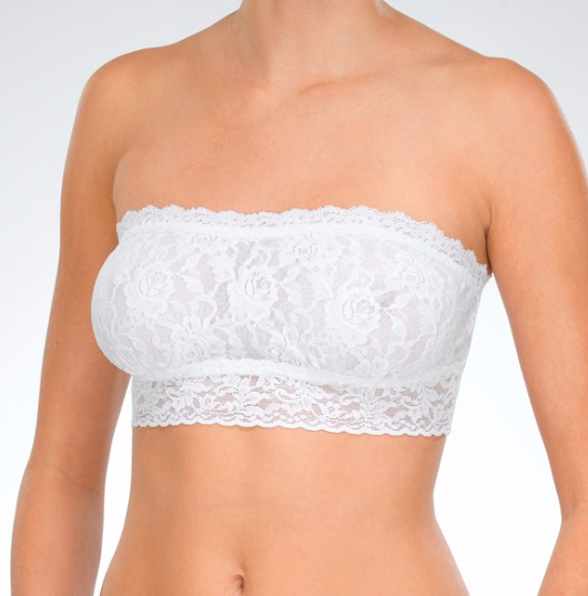 f9ee696168 Hanky Panky Signature Lace Lined Bandeau Bralette in White ...