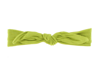 Baby bamboo knot headband in Meadow Green from Kickee Pants
