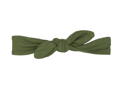 Baby bamboo knot headband in Moss Green from Kickee Pants