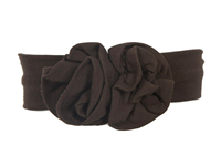 baby bamboo flower headband in brown