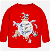 "ted long sleeve t-shirt that reads ""Across the seven seas"""