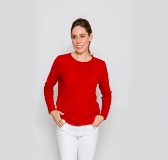 22692509cbb Two Bees Cashmere Red Fisherman Sweater - Winter Clothing - safety ...