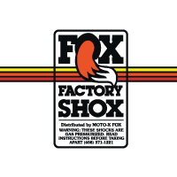 Fox Factory Shox decal sticker set
