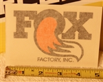 Large Fox Factory Inc decal sticker