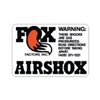 Fox Airshox Late with tail decal sticker set of 4
