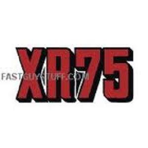 1973 Honda XR75 Sidepanel Decals Red / Black