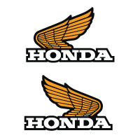 1975 1976 Honda XR75 Tank Wing Decals